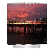 Redondo Beach Pier At Sunset Shower Curtain