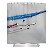Reds Pit Day Shower Curtain