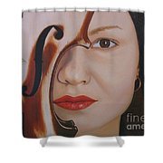 Red's Viola Shower Curtain