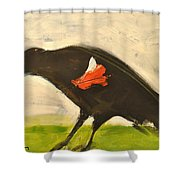 Redwing Muses Shower Curtain