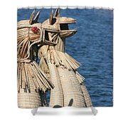 Reed Boat Lake Titicaca Shower Curtain