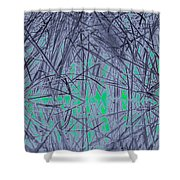 Reed Water Reflection Light Fantasy Shower Curtain