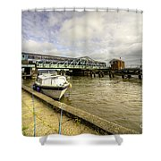 Reedham Swing Bridge  Shower Curtain