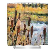 Reedmace Shower Curtain