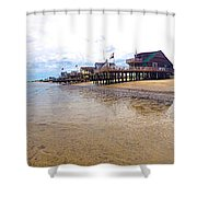Reeds Beach Panorama - New Jersey Shower Curtain