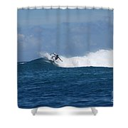 Reef Surfer Moorea Shower Curtain