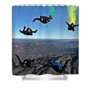 Reenlistment In The Clouds Shower Curtain