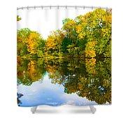 Reflected Autumn Glory Shower Curtain