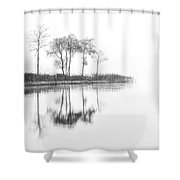 Reflected Calm Shower Curtain