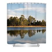Reflected Clouds Shower Curtain