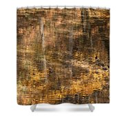 Reflected Gold Shower Curtain