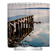 Reflected Pier Shower Curtain