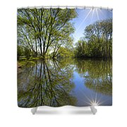 Reflected Star Shower Curtain
