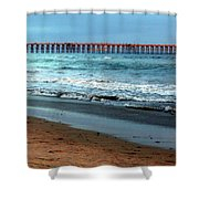 Reflected Sunlight At Pier's End Shower Curtain