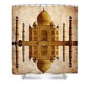 Reflected Taj Mahal Shower Curtain