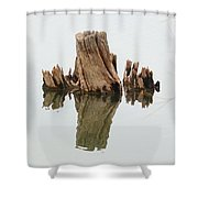 Reflecting Back To Once Was Shower Curtain