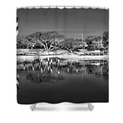 Reflecting Lighthouse  Shower Curtain