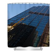 Reflecting On Skyscrapers - Downtown Atmosphere Shower Curtain