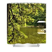 Reflecting On The Beauty Of The Woodlands Shower Curtain