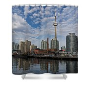 Reflecting On Toronto And Harbourfront  Shower Curtain