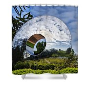 Reflecting The Countryside Shower Curtain