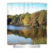 Reflecting Trees Shower Curtain