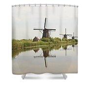 Reflecting Windmills Shower Curtain
