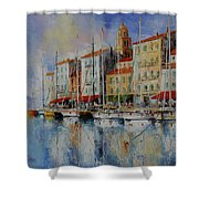 Reflection  -  St.tropez - France Shower Curtain