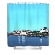 Reflections At Sandycove Shower Curtain