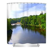 Reflection In Beaupre Quebec Shower Curtain