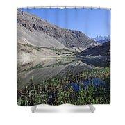 Reflection In Borith Lake Shower Curtain