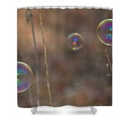 Reflection In Bubbles Shower Curtain