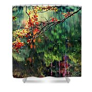 Reflection Of Autumn Shower Curtain
