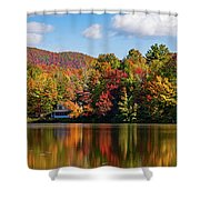 Reflection Of Autumn Trees In A Pond Shower Curtain