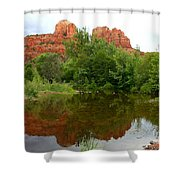 Reflection Of Cathedral Rock Shower Curtain