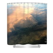 Reflection Of Clouds Shower Curtain