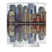 Reflection Of Downtown Nyc Shower Curtain