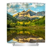 Reflection Of Maroon Bells Shower Curtain