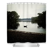 Reflection Of Serenity Shower Curtain by Natasha Marco