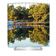 Reflection Of Trees Shower Curtain
