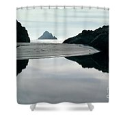 Reflection On Bixby Beach Big Sur California By Pat Hathaway Shower Curtain