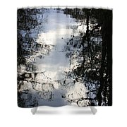 Reflection On Sweet Water Strand Shower Curtain