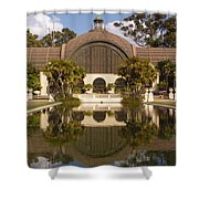 Reflection/lily Pond, Balboa Park, San Diego, California Shower Curtain
