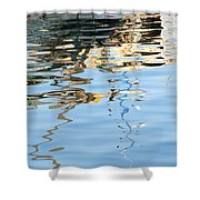 Reflections - White Shower Curtain