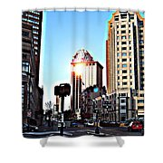 Reflections About Boston Shower Curtain