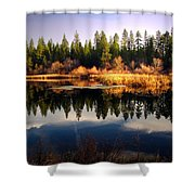 Reflections At Grace Lake Shower Curtain