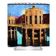 Reflections At Hoover Dam Shower Curtain