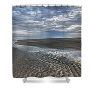Reflections At Low Tide Shower Curtain