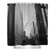 Reflections At The 9/11 Museum In Black And White Shower Curtain