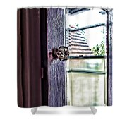 Reflections At The Landmark Des Moines Washington Shower Curtain